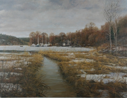 243 Senvinter Bånn i Bunnefjorden olje 116x150