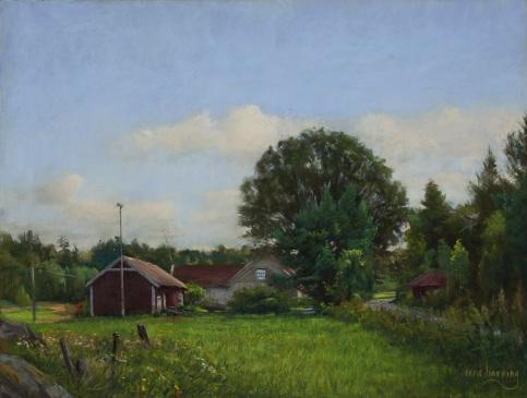 358 Fra Kirkøy-pastell-50x65