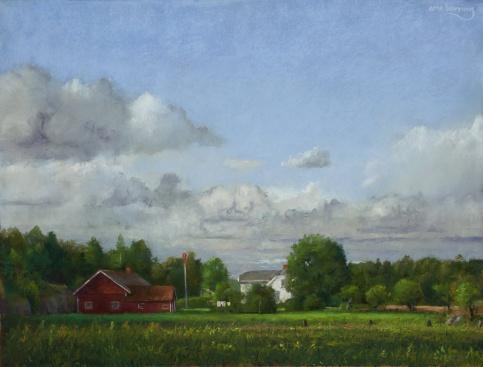 359 fra Kirkøy III pastell 50x65